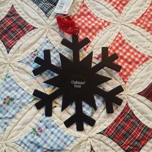 Other - Snowflake Chalkboard Finish Ornament